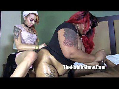 Black Ebony Ass video: phat booty bbw ms giggles banged by lil kim chi and henesey