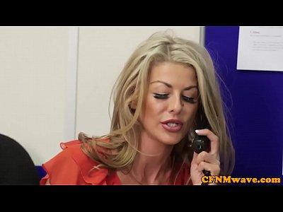 Femdom Handjob Cfnm video: Femdom CFNM Alyssa Divine rough office affair