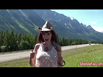 Boobs Public Blowjob video: Good Outdoors Canadian Fun With an Amateur Busty MILF Shanda Fay!