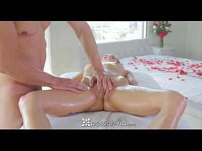 Massage Blowjob Creampie video: Passion-HD - Sydney Cole gets super sexy massage for Valentine's Day
