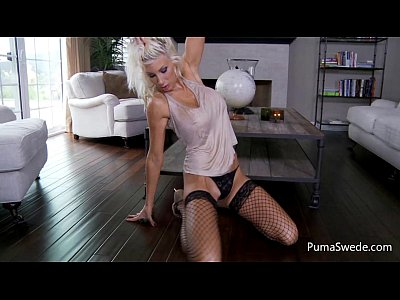 Blonde euro babe puma swede is a hot stunner and plays with pussy