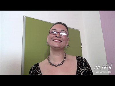Amateur Lingerie Fingering video: MMV FILMS Casting a chubby MILF