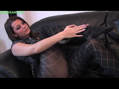 Pornstar in opaque stockings summer