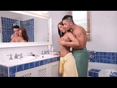 Tits Blowjob Licking video: Big tits babe Kyra Hot gets her juicy pussy smashed Good