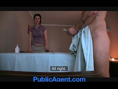 Brunette Masseur Massage And Porn In Publicagent.com