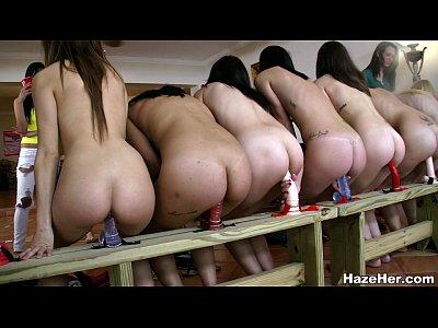 Group Teen Lesbian video: A Row Of Dildos For The Newbies