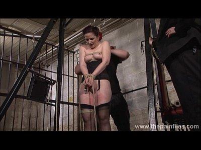 Domination Bondage Slave video: Slave Caroline Pierce whipping and strict double domination punishment of americ