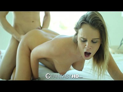 Sex Blonde Blowjob video: FantasyHD - Ice cubes and huge cock for blonde Alexis Adams