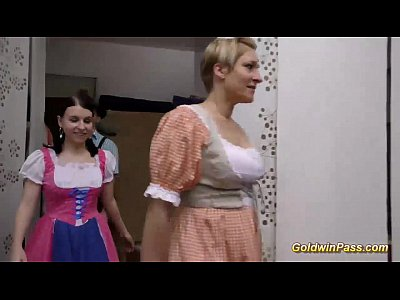 German Gangbang Facial video: german groupsex lederhosen orgy