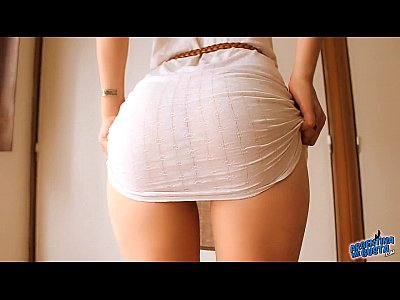 Sexy Pussy Perfect video: Perfect Butt Teen! Showing Herself in a See-Through Dress!