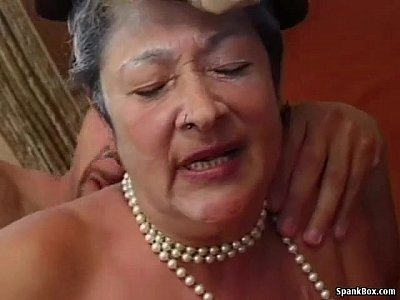 Hairy Hardcore Sex video: Granny gets reamed by young man