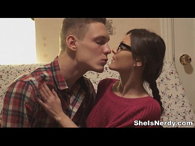 Blowjobs Cumshots video: She Is Nerdy - Fucking teeny poet