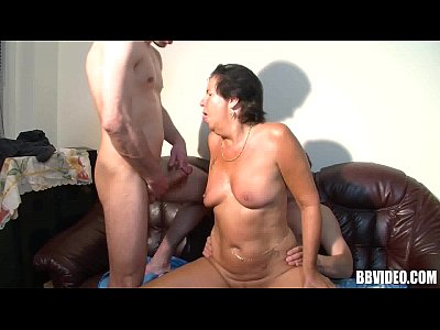Hardcore Blowjob Brunette video: Mature german whore fucked in threesome