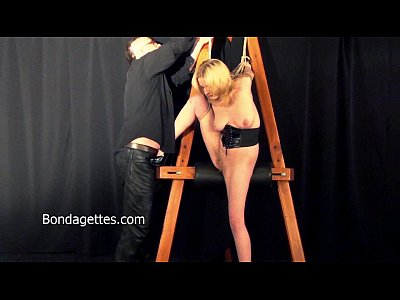 Blonde Bondage Damsel video: Amateur blonde Weekays dungeon bondage and sexual domination of damsel in distre