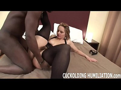 Black Wife Slave video: I want you to watch me choking on big black cock