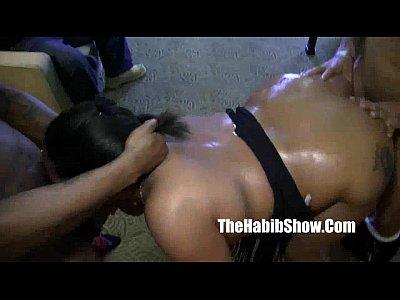 Black Ebony Ass video: spitting freak ladybug gets saliva fucked romemajor macana man