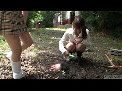 字幕日本プリンシパル屋外埋葬おしっこバプテスマ