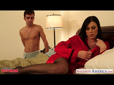 Blowjob Pornstar Brunette video: Stockinged mom Kendra Lust take cock
