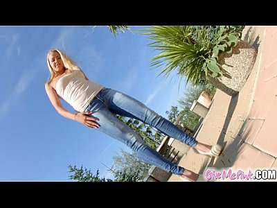Analtoys Blonde Euro video: Give Me Pink Solo blonde plays with both holes