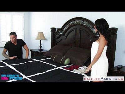 Busty brunette Peta Jensen suck and fuck a big cock