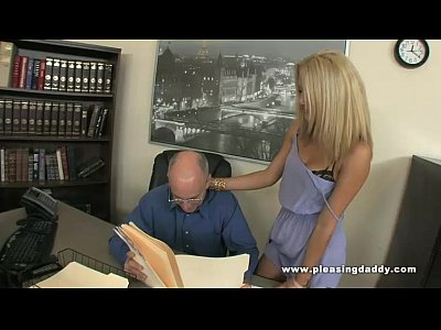 Sucking Fucking Blond video: Young Blond Slut Gemma Fucks An Old Cock