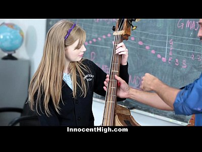 Uniform School Student vid: InnocentHigh- Cute Redhead fucks her teacher