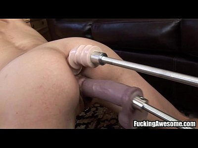 Solo Fuck Dildo video: Nikki West Gets Her Holes Drilled By A Fucking Machine