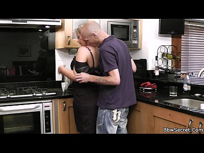 Bbwcheating Cheatingbbw Cheatingfatwife video: Husband caught cheating in the kitchen