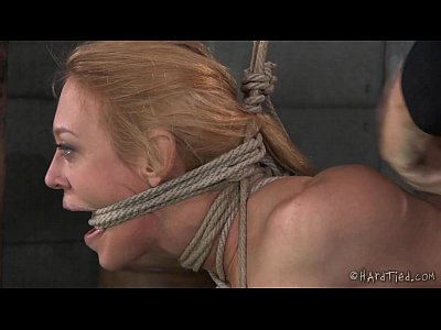 Orgasm Bigtits Flogging video: Big Tits Blond In Rope Bondage