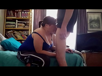 Bbw Oral Chubby video: ASIAN BBW AMATUER THROATS A FAT WHITE COCK