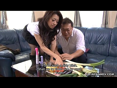 Ass Avidol Bigcock video: Sayuri has a nasty time with some vegetables