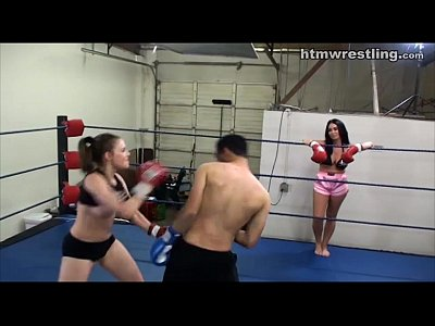 Domination Topless Fighting video: Femdom Boxing Beatdowns - Wimp Gets Dominated