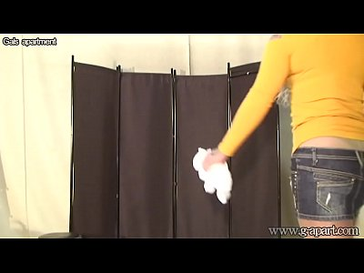 Changing Chick Fighter video: Japanese MMA Fighter Spied On Changing Room