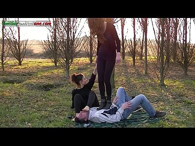 Bdsm Femdom porno: The Anna s Experiences - Trampling in the Outdoor