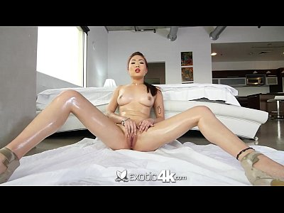 4K Exotic4K - Asian Lea Hart chokes on dick and rides big cock
