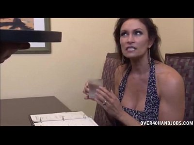Milf Mature Jacking video: Brunette Milf Strokes A Boner