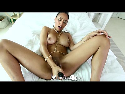 Interracial Ebony Blowjob video: 4K - Pretty ebony Cherry Hilson gets fucked in every hole
