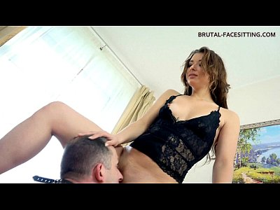 Facesitting Femdom Licking video: Worshipping Ass