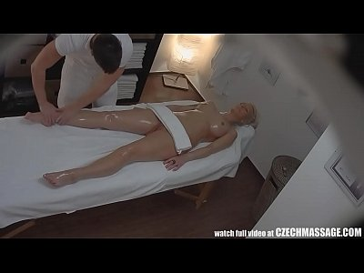Hardcore Massage Fingering video: Beautiful Big Tits Blonde on Czech Massage