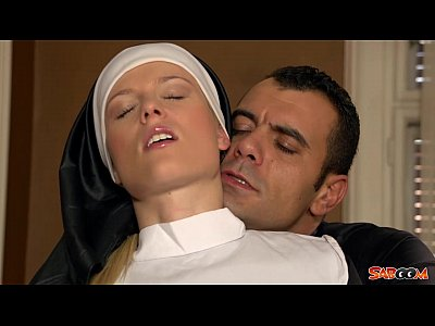 Blonde Blowjob Cheating vid: Naughty Nun