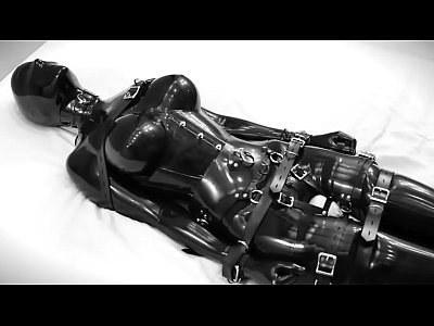 Latex Vibrator Rubber video: Rubber doll masturbates, then is bound and vibrate