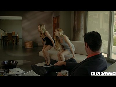 Squirting Spanking Blonde video: VIXEN.com Rich Boss Gets Threesome with Two Blondes