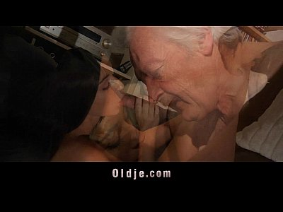 Grandpa Oldvsyoung Cocksucking video: Grandpa fucking horny young sweety