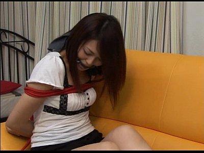 猿轡マニア&マスクフェチ オセロ中島似のロングヘアーの女性が自縛セルフボンデージ【Xvideos】
