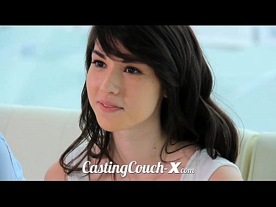 Brunette Casting Cute video: Casting Couch-X High school sweethearts start in porn