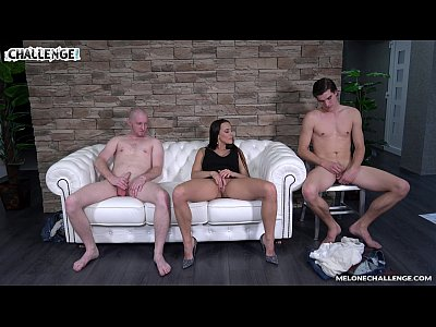 Melonechallenge - Lets party begin threesome with Mea Melone & two horny dudes