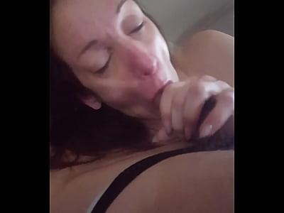Bedroom blowjob