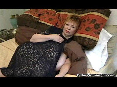 Milf Mature video: Fat granny Dagny with her big tits plays with vibrator