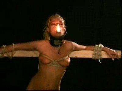 Extreme robot bondage slave