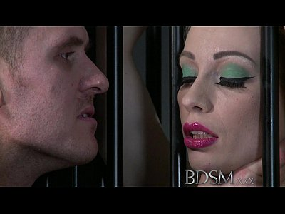 Bdsm xxx big breasted blonde gets a hardcore lesson inside her cage